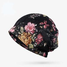 Trendy Summer Women Floral Printed Lace Scarf Skullies & Beanies Hat Cap Turban