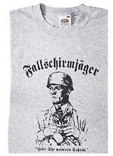 """T-Shirt Fallschirmjäger """"Hört unseren Schritt"""" Landser Soldat WH WK2 WWII"""