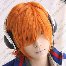 227 Panty&Stocking with Garterbelt Brief Orange Short Cosplay Party Wig