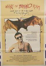 Where The Buffalo Roam 1980 Movie Poster Hunter S Thompson Bill Murray Original