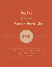 Willys Jeep Pickup Wagon and Jeepster Parts Book 1947 1948 1949 Master Catalog