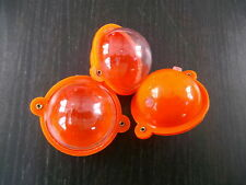 SET OF 3 CJT ROUND BUBBLE FLOATS 45mm  ORANGE / CLEAR