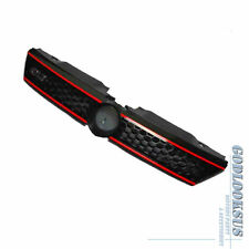 For 11-14 VW Jetta MK6 Sedan Black Honeycomb Grille w/ Red Trim