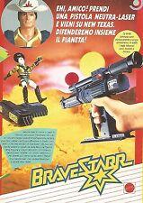 X0700 Pistola Neutra-Laser BraveStar- Mattel - Pubblicità del 1987 - Vintage ad