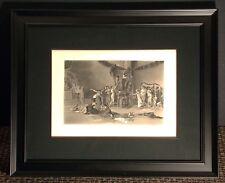 "Antique Engraving ""The Flower Festival"" Gebbie & Co. New Frame 1888 Make Offer"