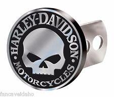 "Harley Davidson Willie G Brushed Metal Hitch Plug - Fits 1 1/4"" & 2"" Receivers"