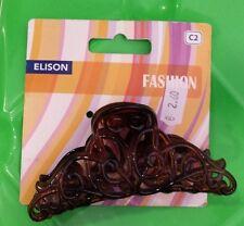 accessori moda - pinze per capelli -  colore marrone  -  L.  9 cm