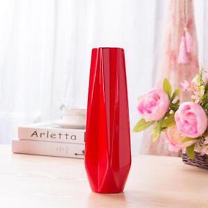 Ceramic Porcelain Decorative Vases Red Colors High Quality Modern Desktop Decors