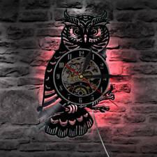 Animal Owl Design Wall Clock Modern Design Vinyl Clocks Classic Wall Watch Gifts