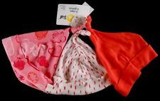 My Little Star Set of 3 Infant GIRL Size 0-3M Hats Caps Pink & White New w Tags