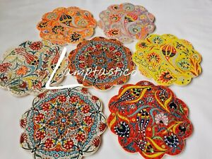 "NEW Turkish Tile Trivet 7"", Hot Pot Pad, Pot Holder, Worktop Protector, Gift"