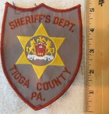 TIOGA COUNTY PENNSYLVANIA SHERIFF PATCH (SHERIFF, HIGHWAY PATROL, STATE POLICE)