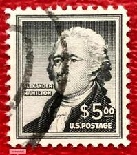 US Stamps SC#1053 $5 Black Alexander Hamilton Used