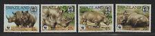 $Swaziland Sc#519-522 M/NH/VF, complete set, WWF, Cv. $24.75