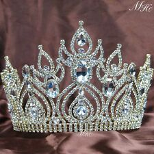Tiara Crown Gold Prom Bridal Wedding Queen Pageant Headband Hair Accessories New