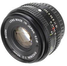 Ricoh 50 mm 1:2 Rikenon mount Pentax PK (Réf#C-126)
