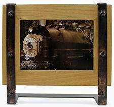 5x7 5 x 7 Wood Antique Copper Metal Photo Picture Frame New Natural Light