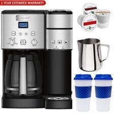 Cuisinart 12-Cup Coffee Maker & Single-Serve Brewer (Refurb.) + Warranty Bundle