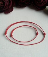 Baby and Mum, Mom, Mother Lucky Red Cord Bracelet waxed cotton 1mm