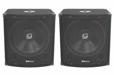 "2 x QTX QT15s 15"" 300W Subwoofer Bass Bin Speaker Pair DJ Disco Sound System PA"