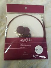 """Knit Picks Circular Knitting Needles 32"""" Size  Flex Cable See Picture. A27"""