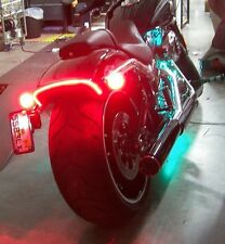 Harley-Davidson Breakout Under-the-Fender LED Taillight and Turn Signals; Clear