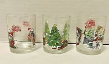 Vintage Christmas Votive Candle Holders Set of 3 Made Taiwan