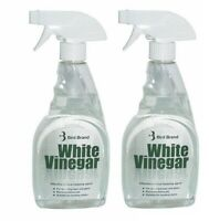 2 x 500ml Bird Brand White Vinegar Cleaning Limescale Glass Cleaner Stain Removr