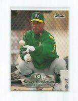 RICKEY HENDERSON (Oakland A's) 1998 FLEER SPORTS ILLUSTRATED CARD #57