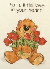Janlynn Suzy's Zoo Love In Your Heart Counted Cross Stitch 38-62 Bear w/ Roses