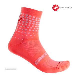 Castelli PUNTINI Womens Tall Cuff Cycling Socks : BRILLIANT PINK - One Pair