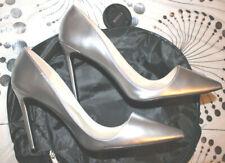 High heels, Pumps in silber, vorne tief ausgeschnitten Gr. 42,5 - 43, NEU