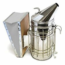 Co-Z Bee Hive Smoker Stainless Steel with Heat Shield Protection Beekeeping