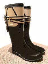BURBERRY Women's Designer Rain Boots Classic Black  - Size 37 - Barely Worn