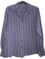 blue striped long sleeved shirt size L