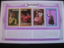 Jamaïque: 1974 compagnie de danse de la Jamaïque mini feuille neuf sans charnière