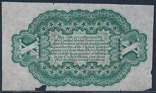 Fr1255-Sp 10¢ Specimen Green Reverse Fractional Proof Small Tears @Bottom Bs9410