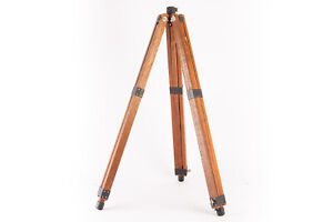 """Antique Wooden Camera Tripod for Medium & Large Format Extends to 50"""" V18"""