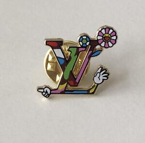 Louis Vuitton x Takashi Murakami Hand Multicolor Cherry Blossom Pin Brooch Badge