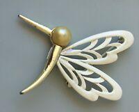 Vintage  Bird Brooch Pin in enamel on metal