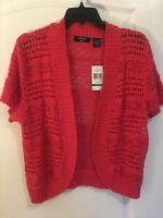 Women's Verve Ami Short Sleeve Open Sweater, New With Tags