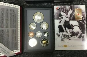1997 PROOF SET OF CANADIAN COINAGE IN BLACK PLASTIC CASE
