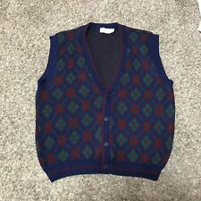The Mens Store At Sears Men's Cardigan Sweater Vest Sz. XL