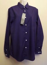 "Burton Medium 15.5-16"" new purple cotton-rich easy iron long-sleeved shirt"