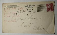 US Sc# 403 Used On Cover Washington PA Wildlife League Machine Cancel