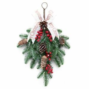 50CM Christmas Wreath Decorations Front Door Garland Artificial Tree Ornaments