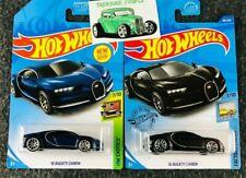 Hot Wheels - Lot of 2 - BUGATTI - '16 Chiron - BLACK & BLUE - 2020 - C140