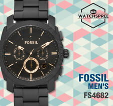 Fossil Machine Mid-Size Chronograph Black Men's Watch FS4682