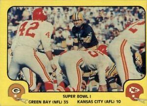 1978 Fleer Team Action #57 Super Bowl I - EX