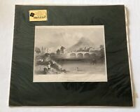 Repro Lithograph after 19th-Century W. H. Bartlett Engravings of Ireland- Matted
